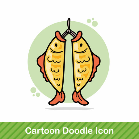 pendant: Chinese fish lucky pendant doodle
