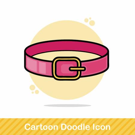 collarin: Mascota del doodle de cuello Vectores