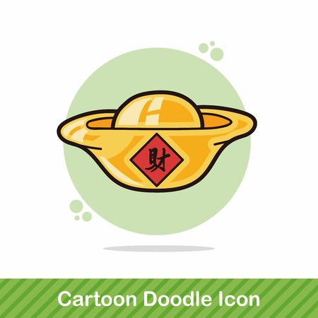 ingot: Chinese New Year Gold ingot doodle