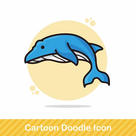 animal: sea animal whale doodle Illustration