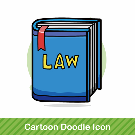 law book: law book doodle Illustration