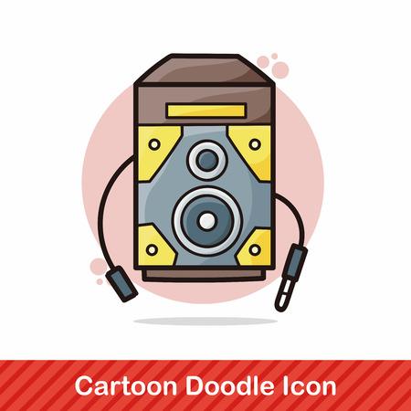 equipo de sonido: Doodle de est�reo Vectores