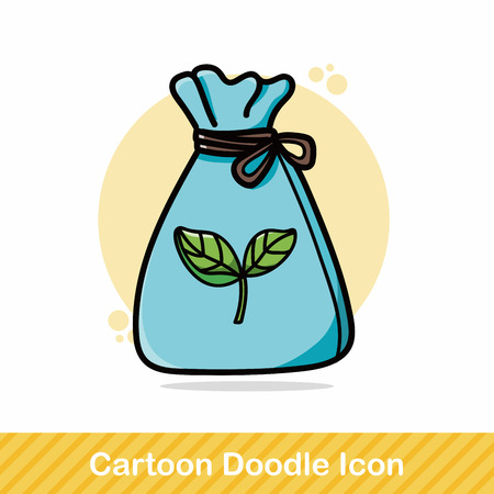 recycled garbage doodle Stock Vector - 48833822