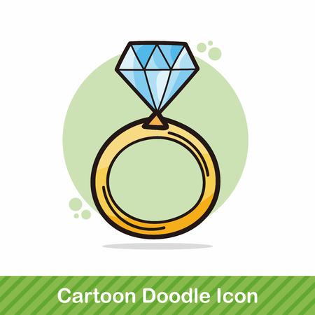Anello di diamanti Doodle Archivio Fotografico - 48834927