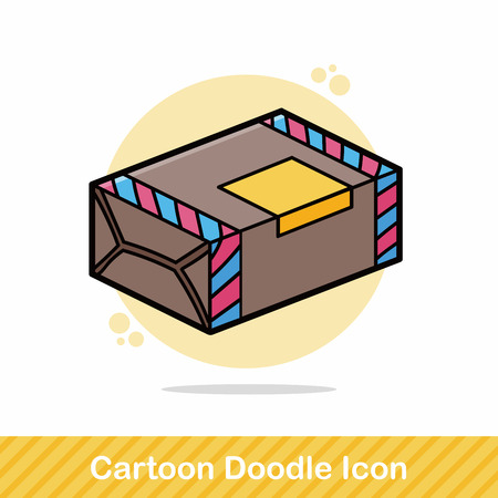 tissue paper art: paper box doodle Illustration
