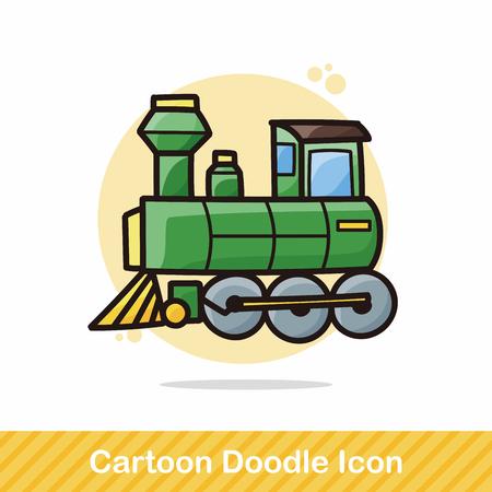tren caricatura: tren garabato Vectores