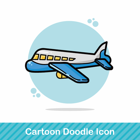 airplane wing: airplane doodle Illustration