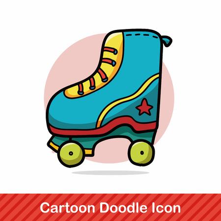 inline skating: Roller skates doodle