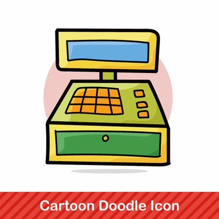 register: Cash register doodle