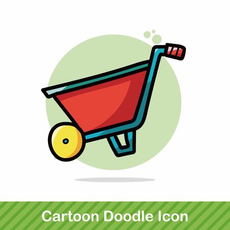 heavy equipment: handbarrow color doodle