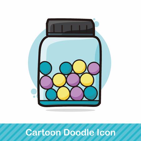 Glazen potten kleur doodle