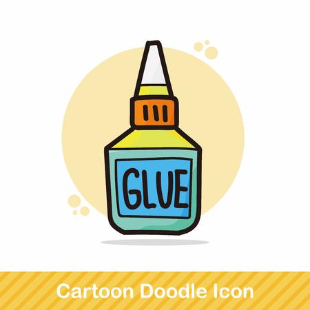 resistol: pegamento de color del doodle