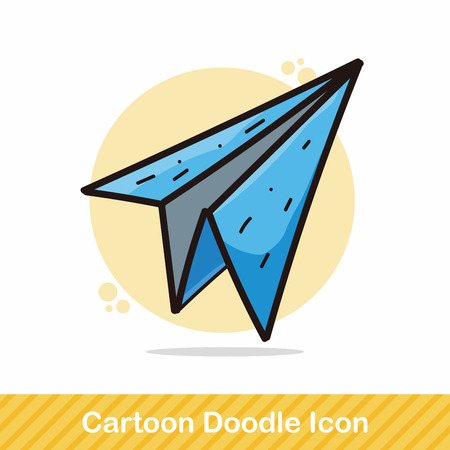 drawing paper: paper airplane color doodle