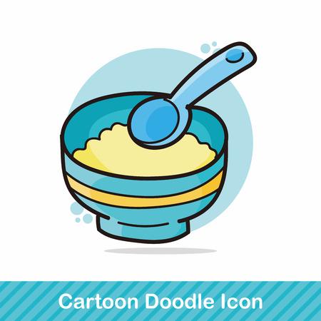 food: baby food doodle