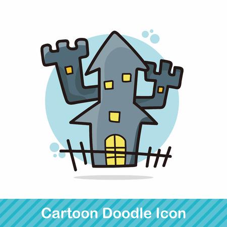 halloween castle: ghost house doodle