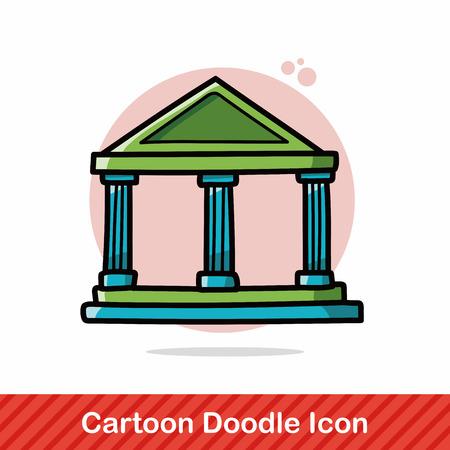 derecho romano: banco del doodle Vectores
