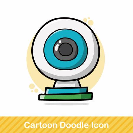webcam: webcam doodle Illustration