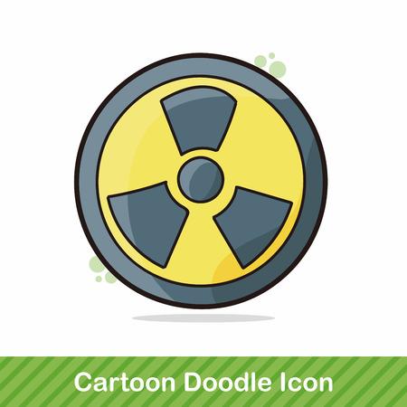 uranium: nuclear doodle Illustration