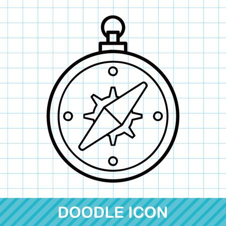 compasses: Compasses doodle Illustration