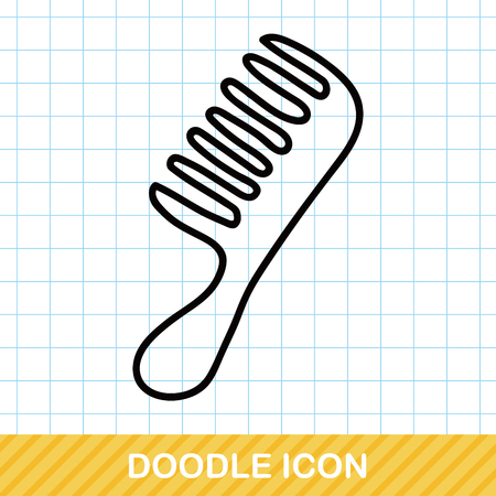 comb: comb doodle Illustration