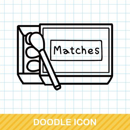 matches: Matches doodle Illustration