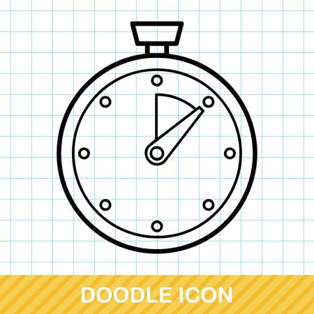 stopwatch doodle Stock Illustratie