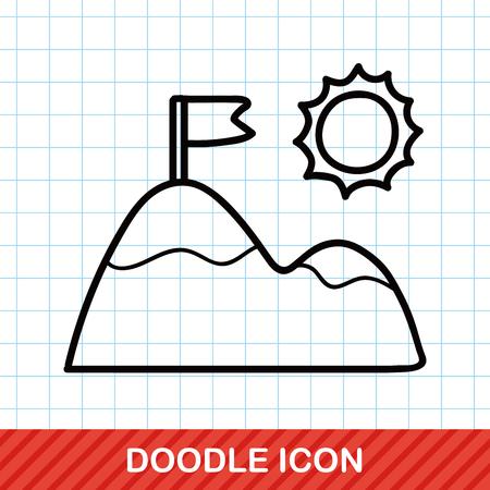 alleys: mountain doodle Illustration