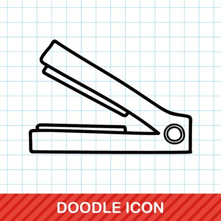 straightener: straightener doodle Illustration