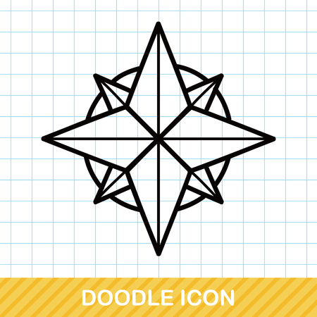 compasses: Compasses doodle Illustration