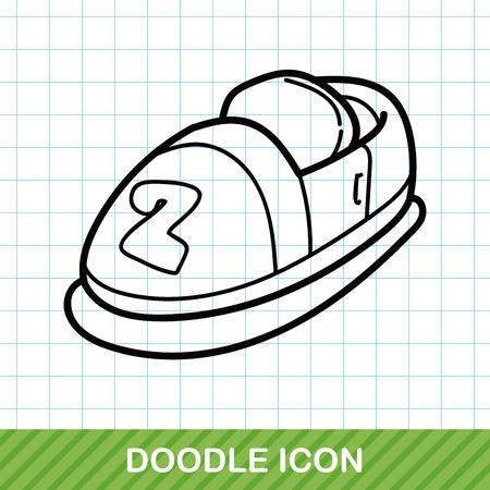 bumper: Bumper car doodle Illustration