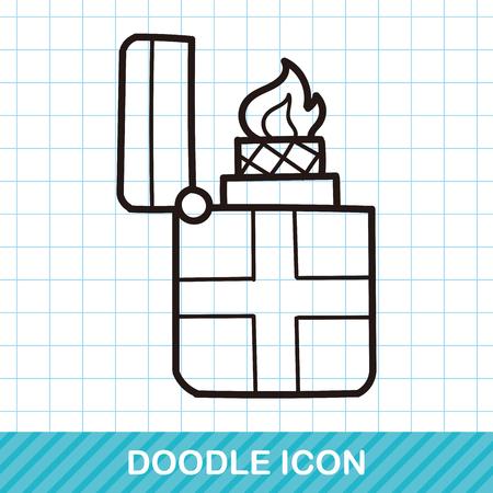 lighter: Lighter doodle Illustration