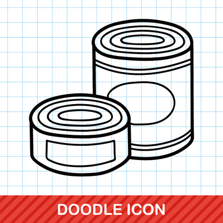 canned food: Canned food doodle