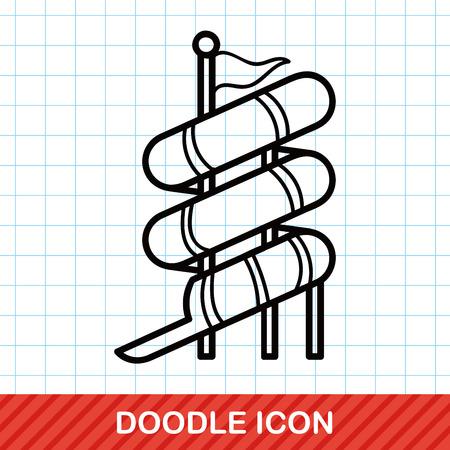 water slide: water slide doodle