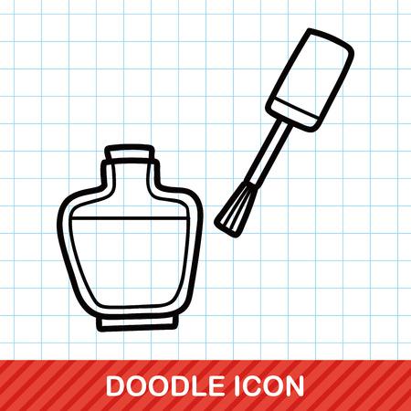 perfume bottle: Nail Polish doodle