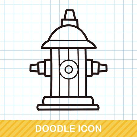 borne fontaine: Bouche d'incendie doodle