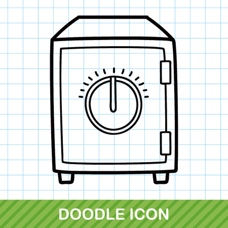 safety deposit box: Safety Deposit Box doodle