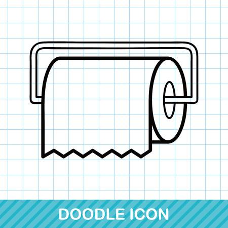 sanitary towel: tissue paper doodle Illustration