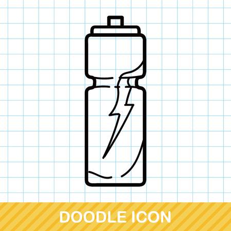 Waterfles doodle Stockfoto - 50099536