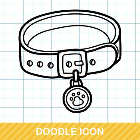 Pet collar doodle Vektorové ilustrace