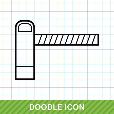 crossings: Train crossings doodle