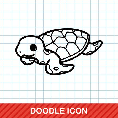 water turtle: sea animal turtle doodle