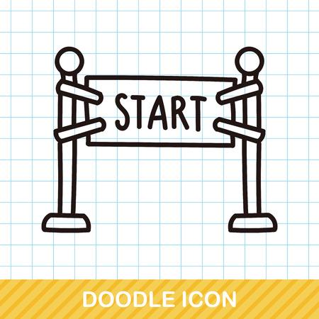 start line: start line doodle