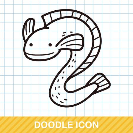 animal: sea animal Eel doodle