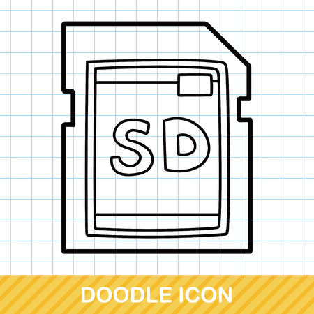 sd card: SD card doodle Illustration