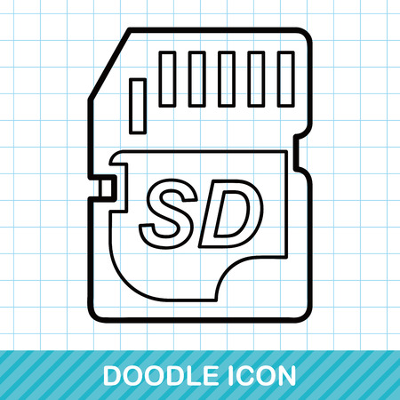 sd: SD card doodle Illustration
