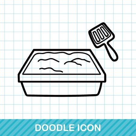 Katzentoilette doodle