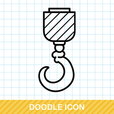 pulley: crane hook doodle