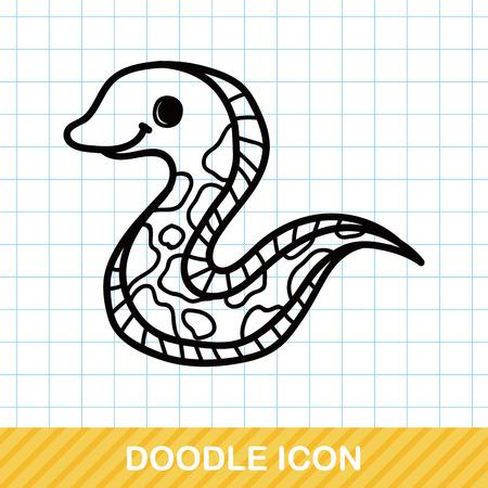 eel: sea animal Eel doodle