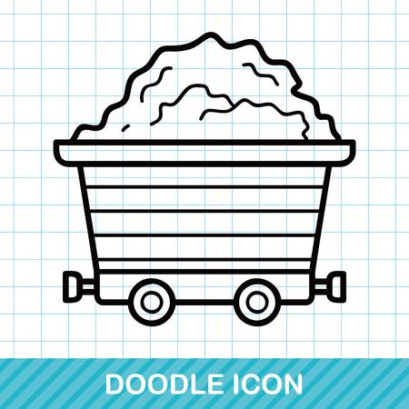 gravel: Gravel trucks doodle
