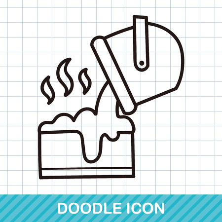 construction material: Cement doodle Illustration